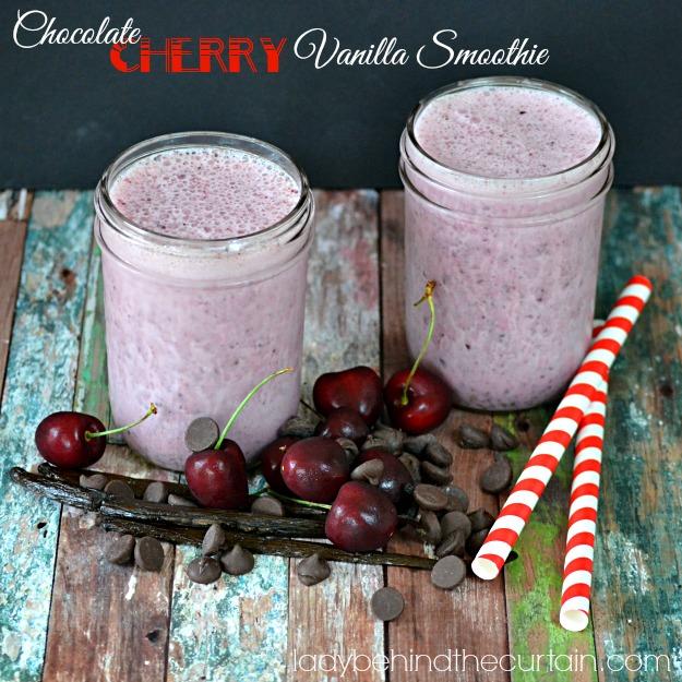 Chocolate Cherry Vanilla Smoothie