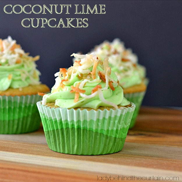 Coconut Lime Cupcakes - Lady Behind The Curtain