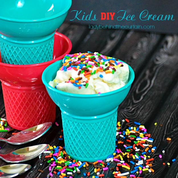 Kids DIY Ice Cream - Lady Behind The Curtain