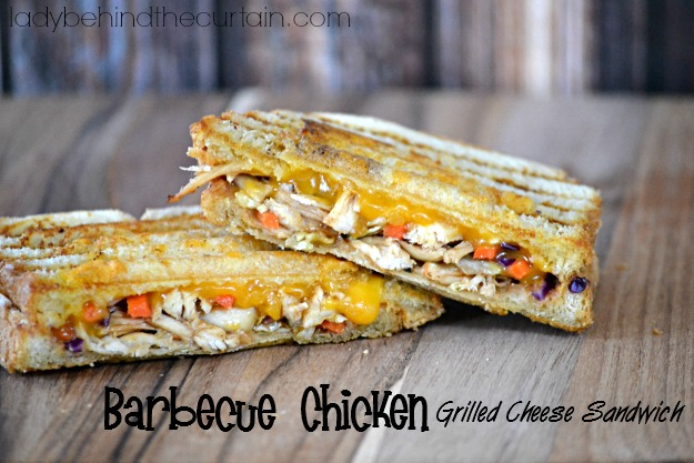 Barbecue Chicken Grilled Cheese Sandwich