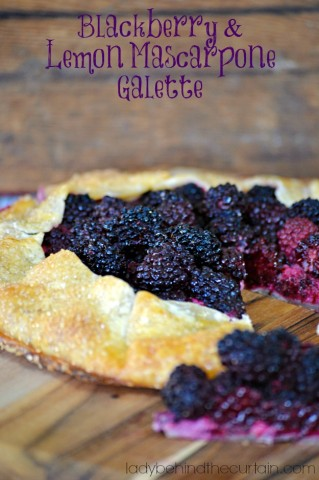 Blackberry and Lemon Mascarpone Galette