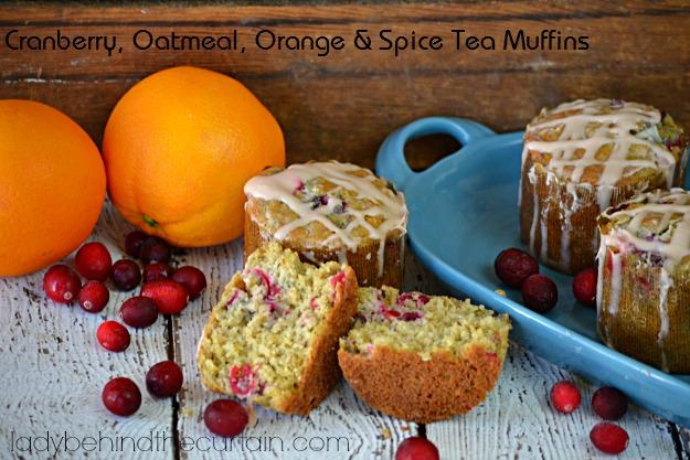 Cranberry Oatmeal Orange and Spice Tea Muffins