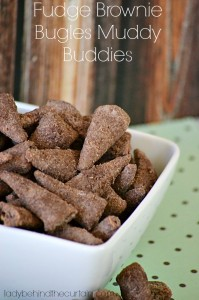 Fudge Brownie Bugles Muddy Buddies - Lady Behind The Curtain