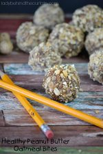 Healthy Peanut Butter Oatmeal Bites
