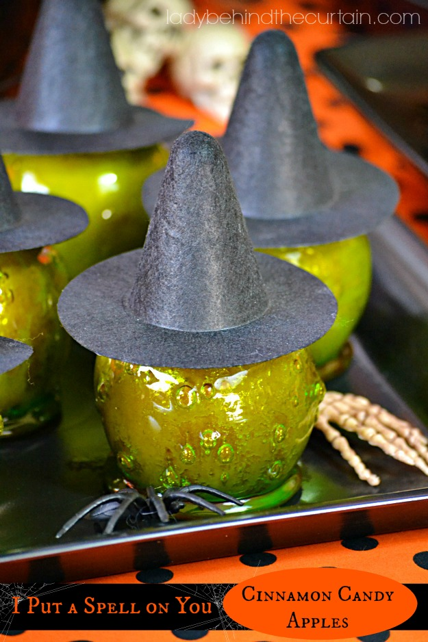 I Put A Spell On You Cinnamon Candy Apples - Lady Behind The Curtain