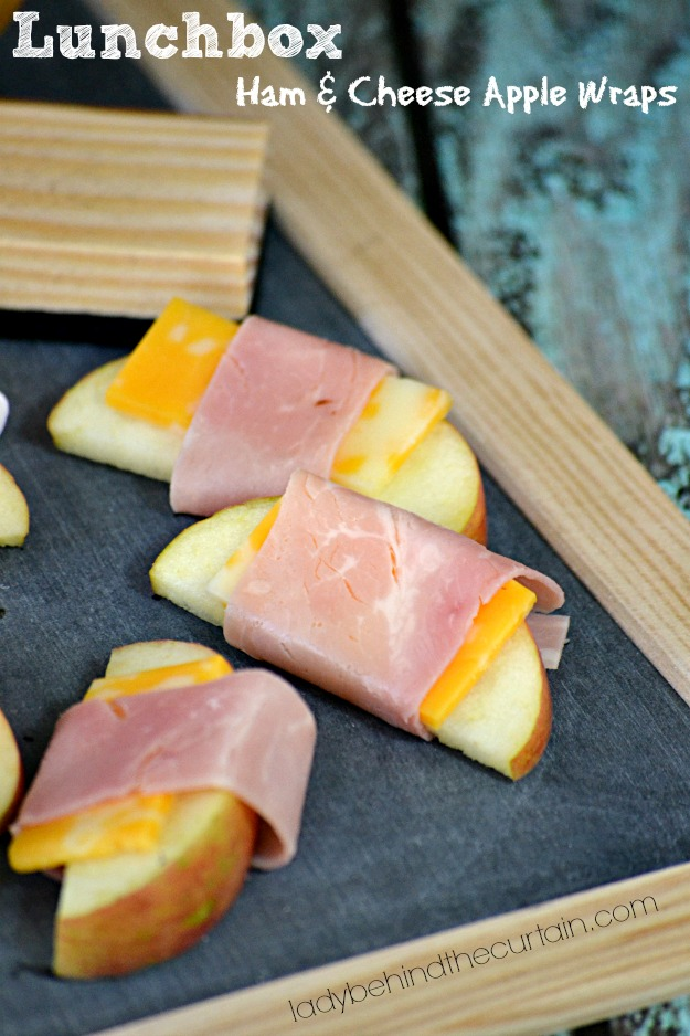 Lunchbox Ham and Cheese Apple Wraps - Lady Behind The Curtain