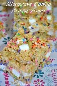 Microwave Vanilla Krispy Treats - Lady Behind The Curtain