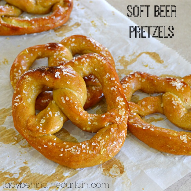 Soft Beer Pretzels - Lady Behind The Curtain