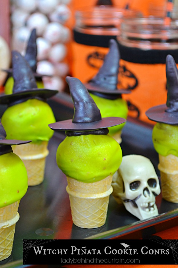 Witchy Pinata Cookie Cones - Lady Behind The Curtain