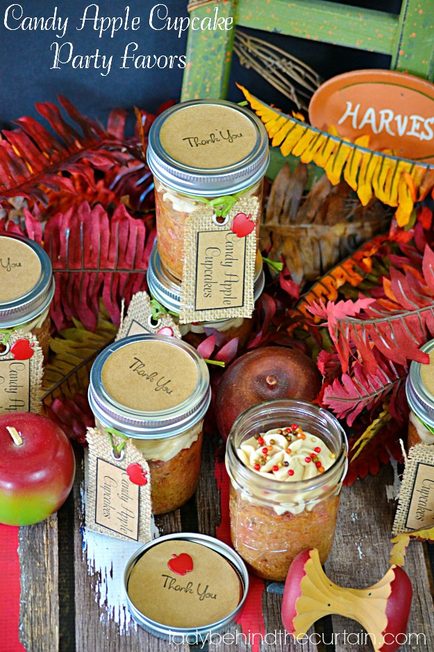 Candy Apple Cupcake Party Favors - Lady Behind The Curtain
