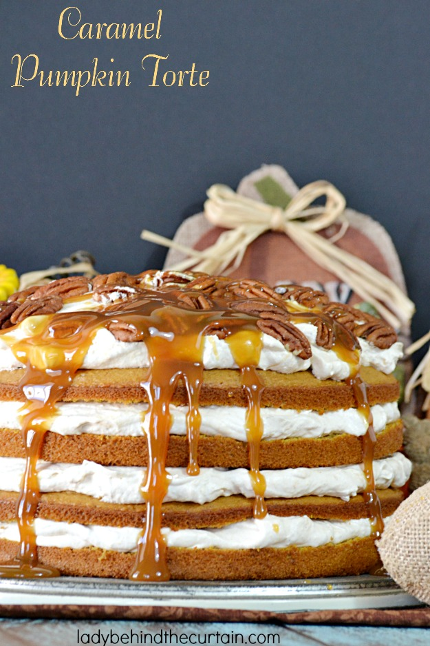 Caramel Pumpkin Torte - Lady Behind The Curtain