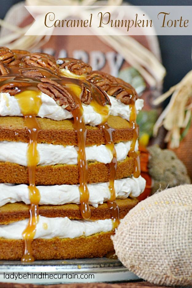 Caramel Pumpkin Torte - Lady Behind The Curtain