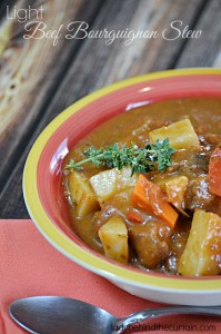Light Beef Bourguignon Stew - Lady Behind The Curtain