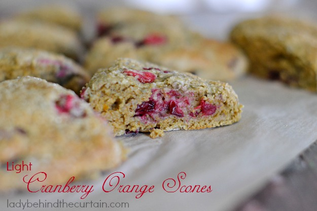 Light Cranbery Orange Scones