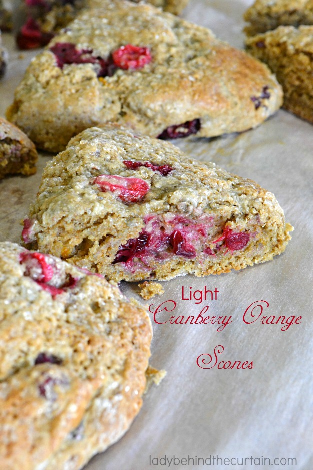 Light Cranberry Orange Scones - Lady Behind The Curtain