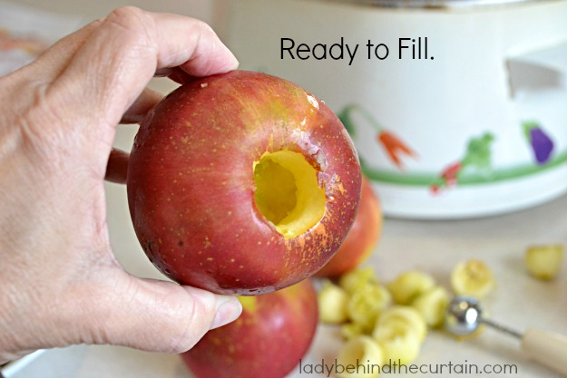 Slow Cooker Baked Apple Dessert - Lady Behind The Curtainv