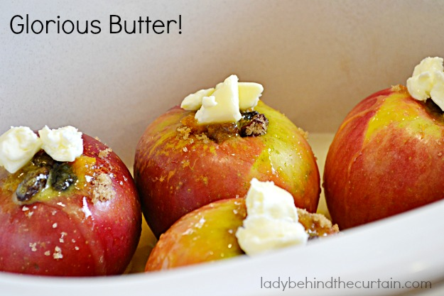Slow Cooker Baked Apple Dessert - Lady Behind The Curtain