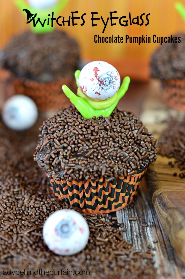 Chocolate Pumpkin Cupcakes - Lady Behind The Curtain