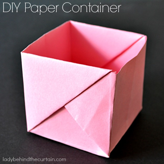 DIY Paper Container - Lady Behind The Curtain