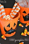 Funny Pumpkin Party Pails