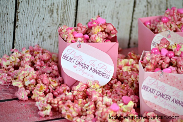 Pretty In Pink Breast Cancer Awareness Popcorn - Lady Behind The Curtain 5