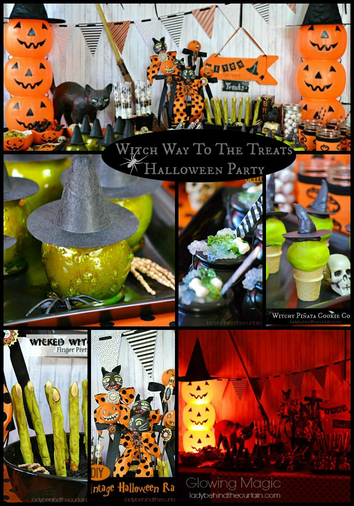 Witch Way To The Treats Halloween Party - Lady Behind The Curtain