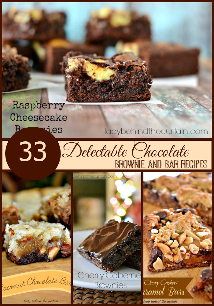 33 Delectable Chocolate Brownie and Bar Recipes - Lady Behind The Curtain