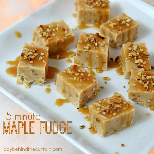 5 Minute Maple Fudge - Lady Behind The Curtain