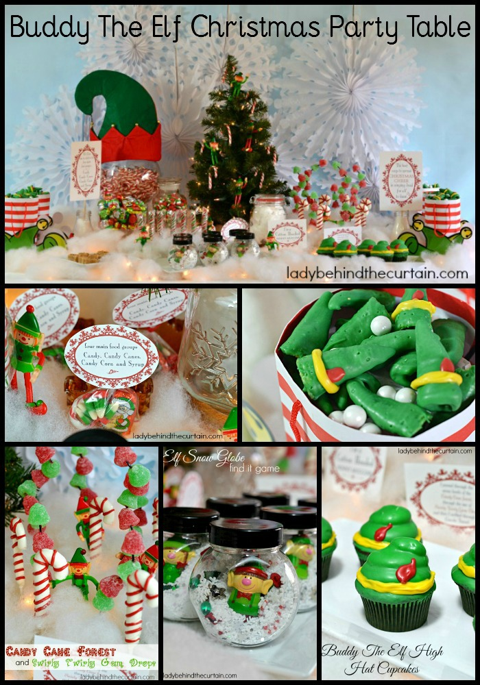 Buddy The Elf Christmas Party Table - Lady Behind The Curtain  24
