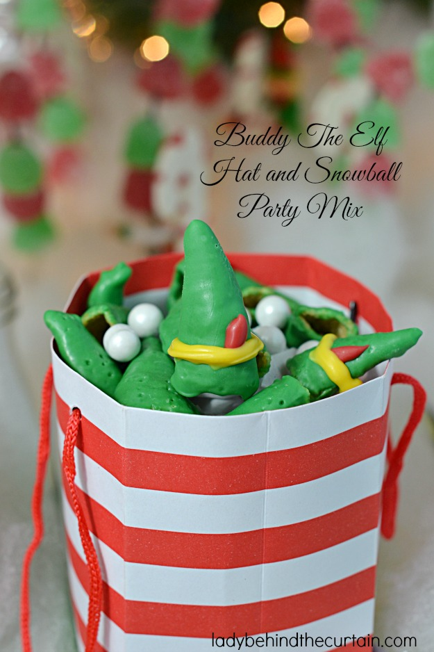 Buddy The Elf Hat and Snowball Party Mix - Lady Behind The Curtain