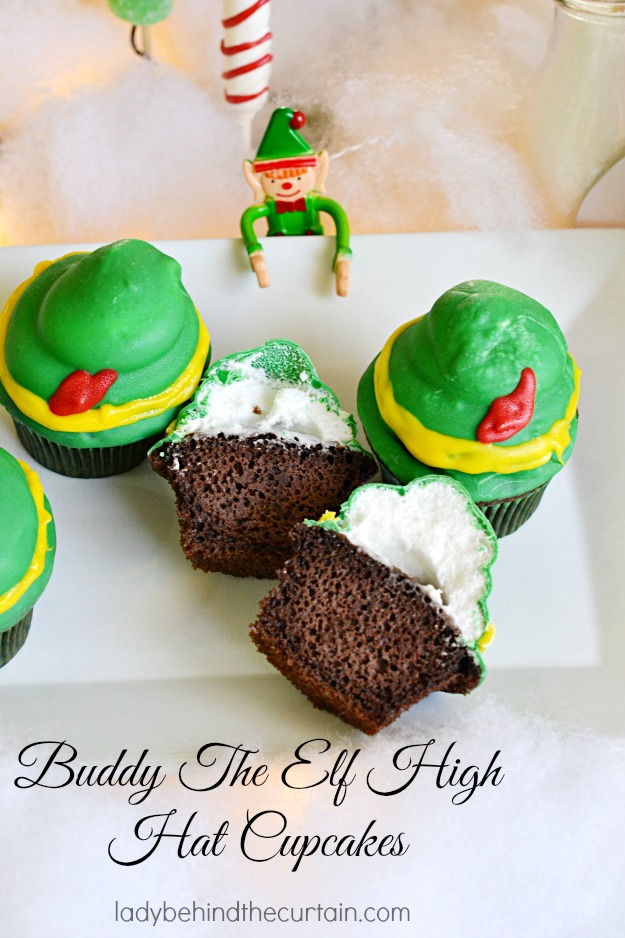Buddy The Elf High Hat Cupcakes - Lady Behind The Curtain