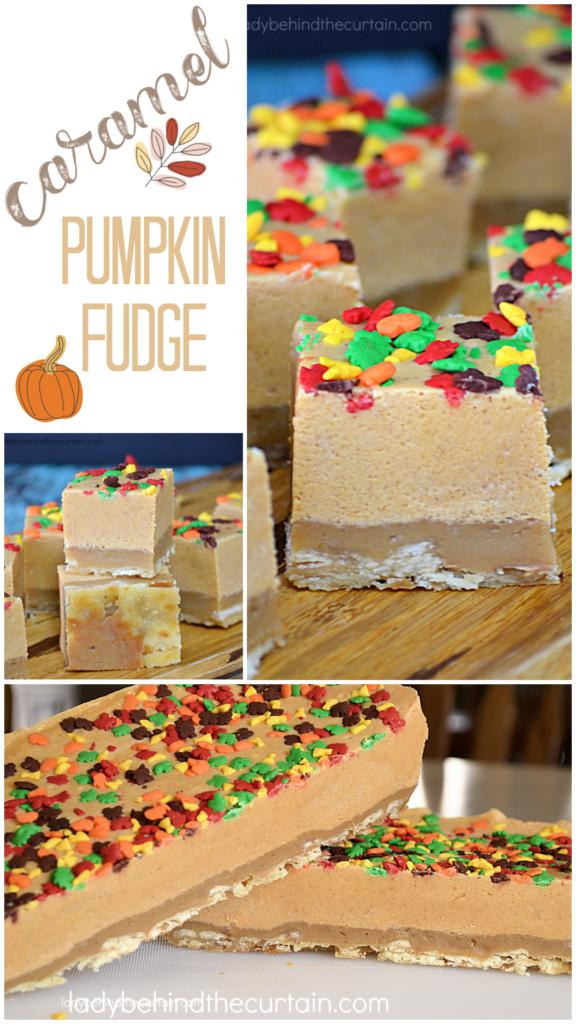 Caramel Pumpkin Fudge