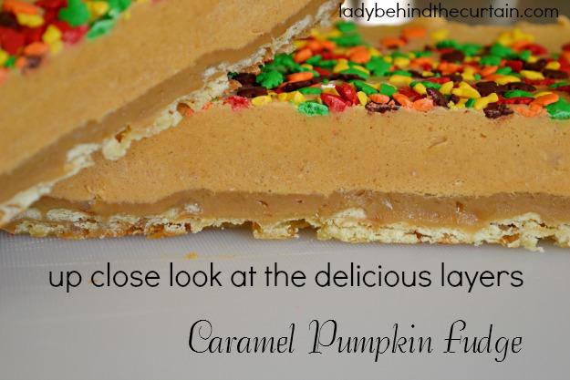 Caramel Pumpkin Fudge - Lady Behind The Curtain