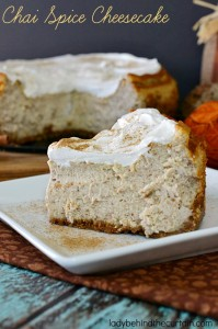 Chai Spice Cheesecake - Lady Behind The Curtain