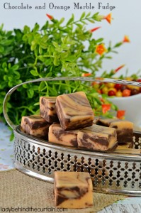 Chocolate and Orange Marble Fudge - Lady Behind The Curtain