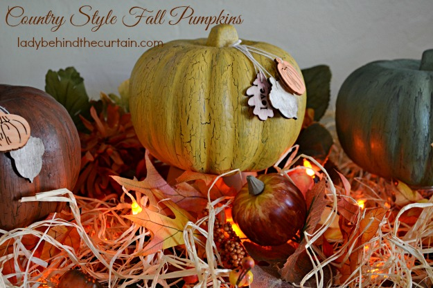 DIY Dollar Tree Country Style Fall Pumpkins