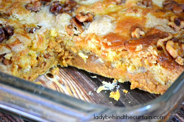 Easy Pumpkin Nut Dump Cake - Lady Behind The Curtain