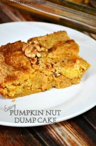 Easy Pumpkin Nut Dump Cake - Lady Behind The Curtain