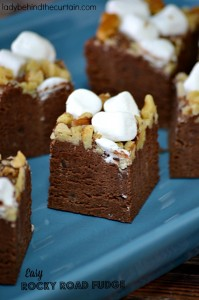 Easy Rocky Road Fudge - Lady Behind The Curtain