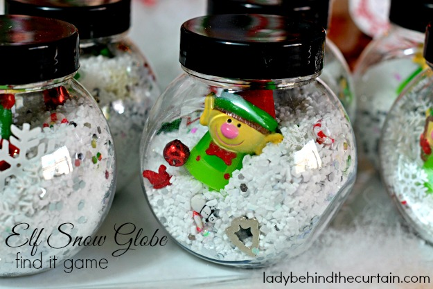 Elf Snow Globe Find It Game - Lady Behind The Curtain