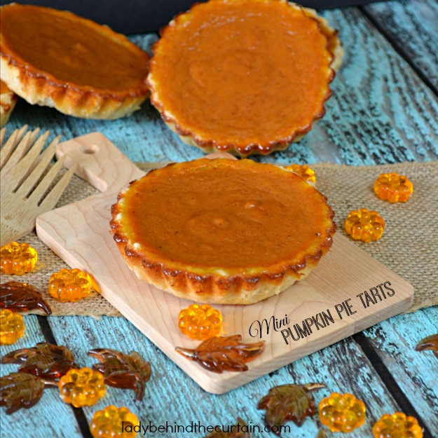 Mini Pumpkin Pie Tarts - Lady Behind The Curtain