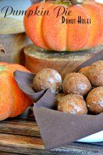 Pumpkin Pie Donut Holes