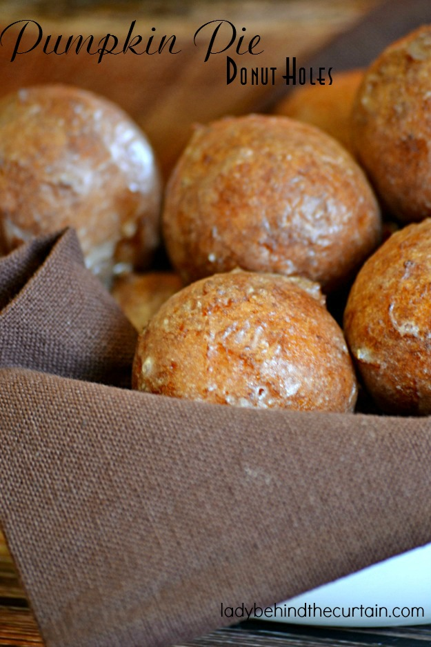 Pumpkin Pie Donut Holes - Lady Behind The Curtain