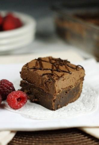 Raspberry Truffle Brownies 2
