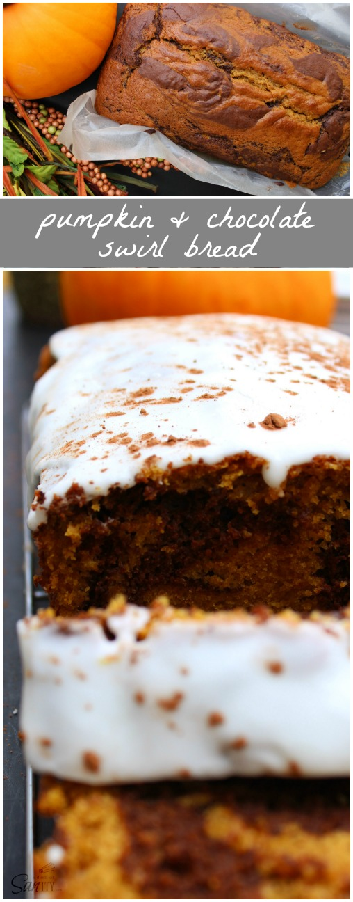 This Pumpkin and Chocolate Swirl Bread embodies all the flavors of ...