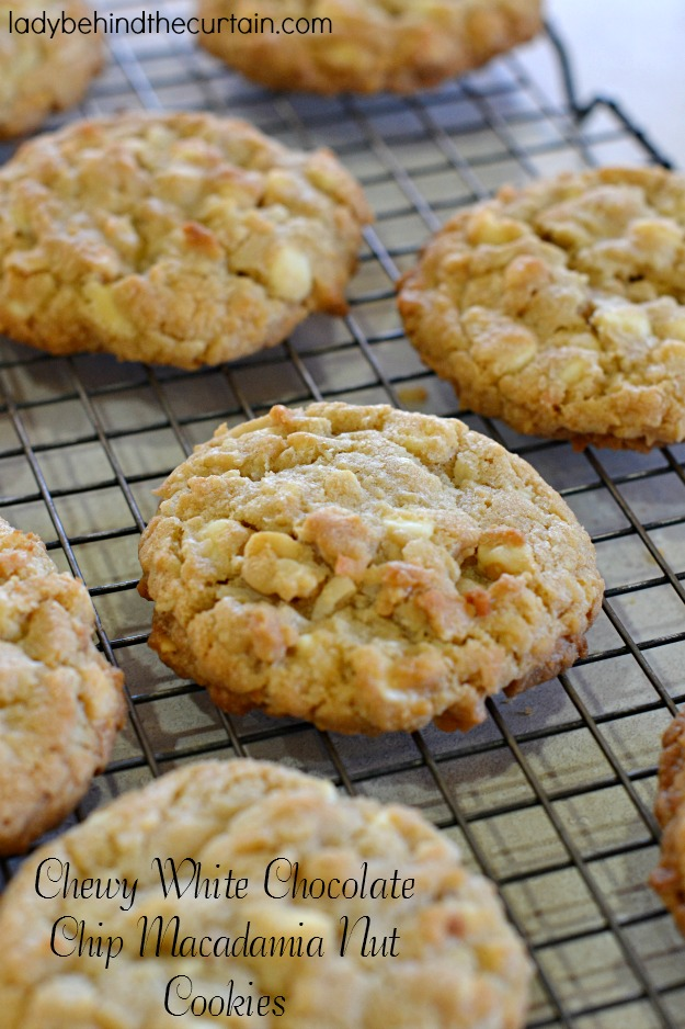 Chewy White Chocolate Chip Macadamia Nut Cookies - Lady Behind The ...