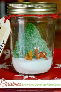 Christmas Snow Globe Gumdrop Place Cards - Lady Behind The Curtain