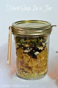Herb Soup In a Jar - Lady Behind The Curtain