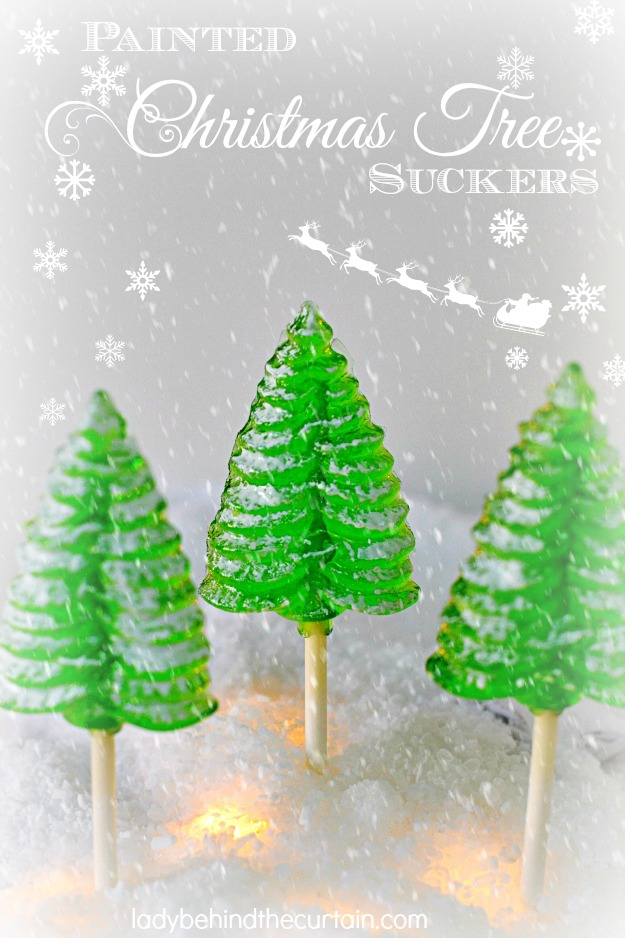 Painted Christmas Tree Suckers - Lady Behind The Curtain
