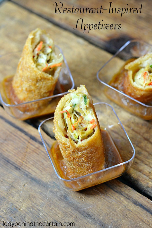 Restaurant Inspired Appetizers - Lady Behind The Curtain